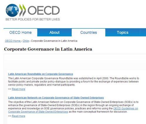 Coordinación de la Mesa Redonda Latinoamericana de Gobierno Corporativo