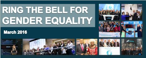 Ring the Bell for Gender Equality 2016
